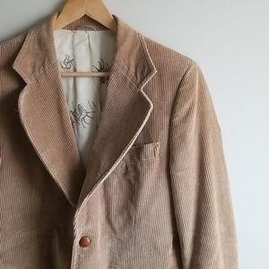 Vintage tan cord men's blazer 42